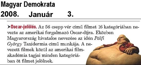 Magyar Demokrata 01.03. - Oscár-jelölés